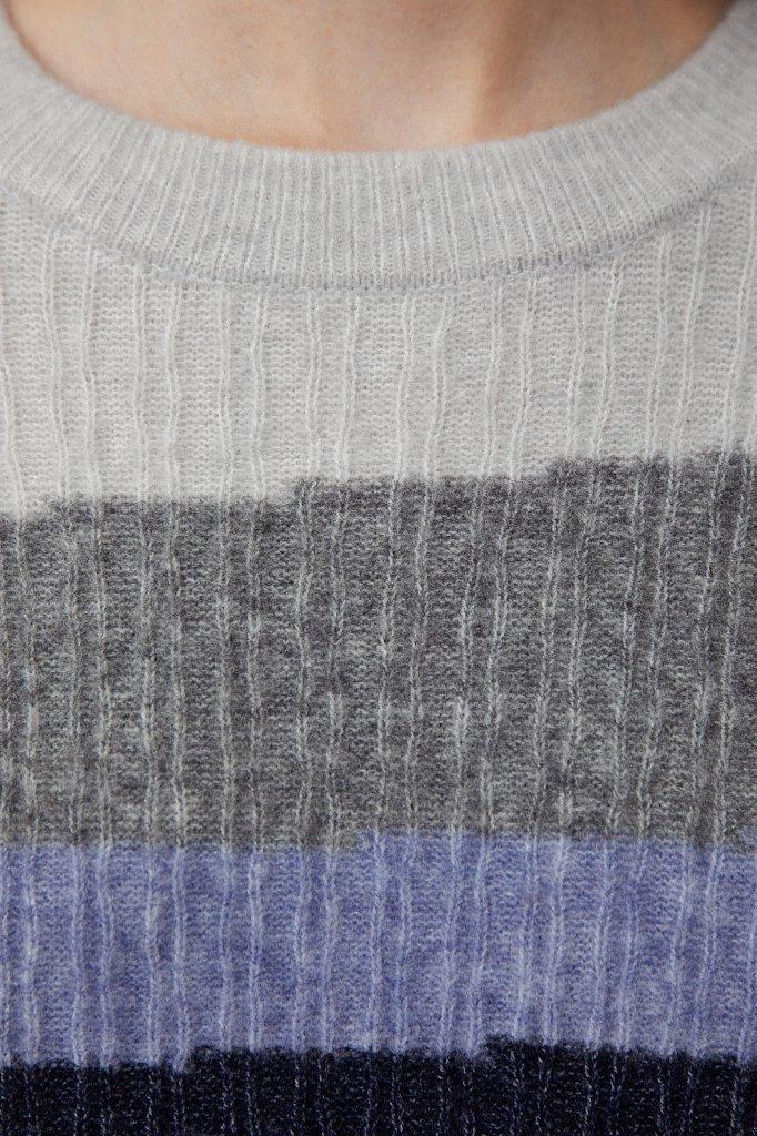Женский джемпер с шерстью в стиле color block, Модель FAB11157, Фото №5