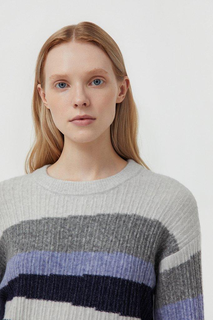 Женский джемпер с шерстью в стиле color block, Модель FAB11157, Фото №6