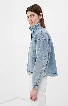 Джинсовая женская куртка свободного кроя