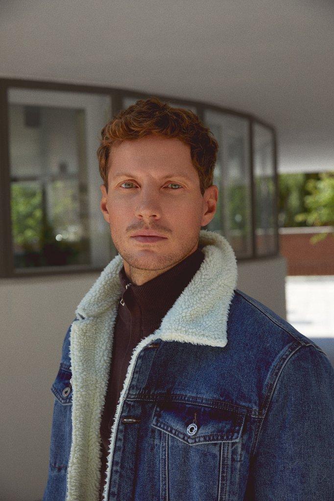 Джинсовая мужская утепленная куртка, Модель FAB25000, Фото №1