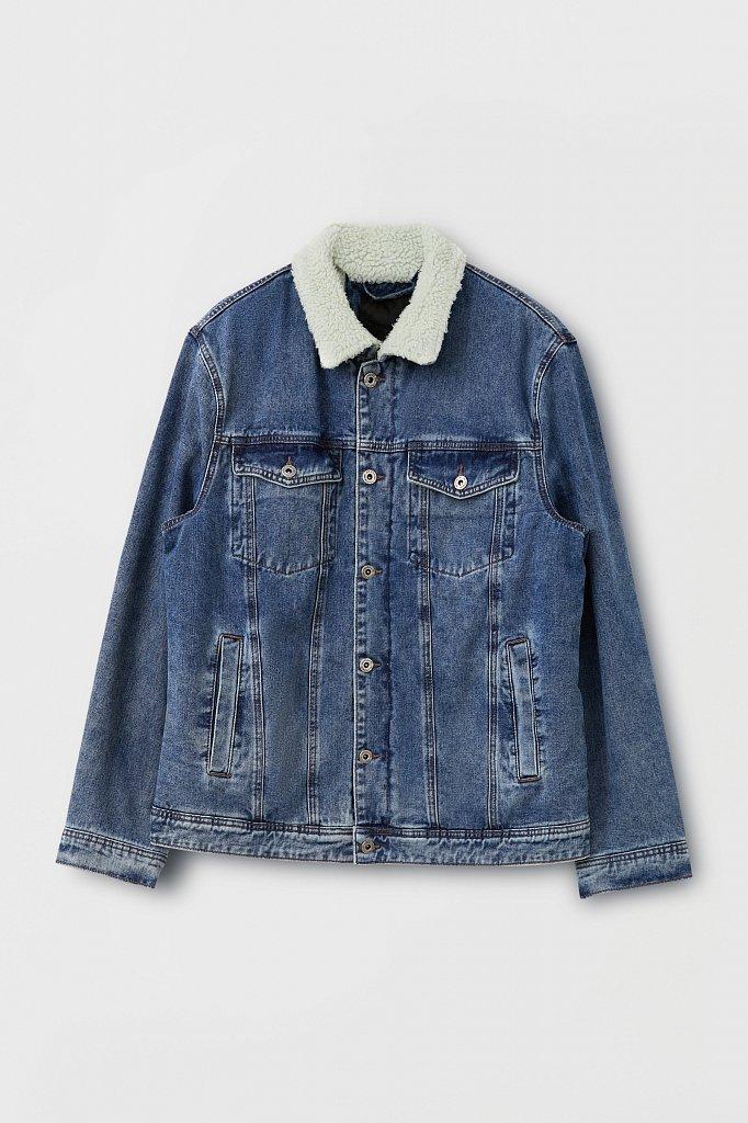 Джинсовая мужская утепленная куртка, Модель FAB25000, Фото №8