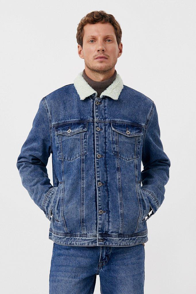 Джинсовая мужская утепленная куртка, Модель FAB25000, Фото №2
