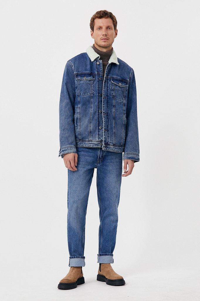 Джинсовая мужская утепленная куртка, Модель FAB25000, Фото №3