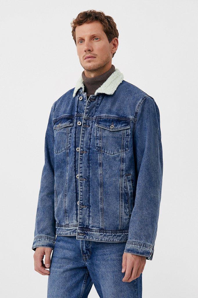 Джинсовая мужская утепленная куртка, Модель FAB25000, Фото №4