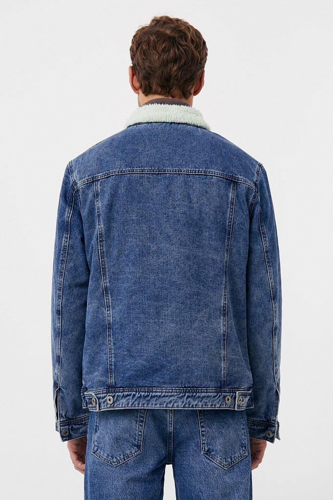Джинсовая мужская утепленная куртка, Модель FAB25000, Фото №5