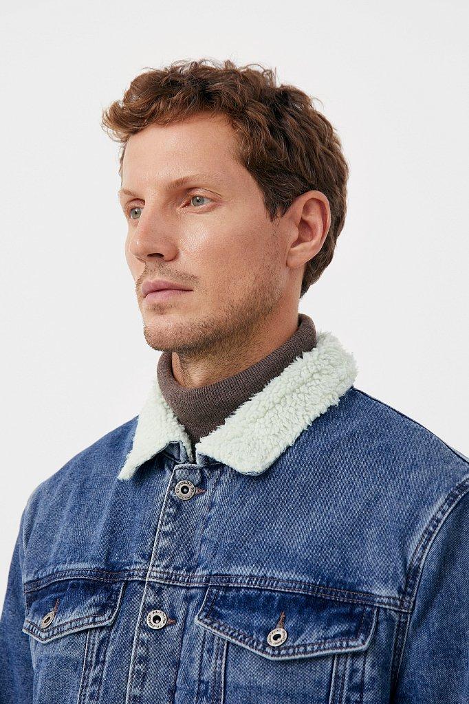 Джинсовая мужская утепленная куртка, Модель FAB25000, Фото №7