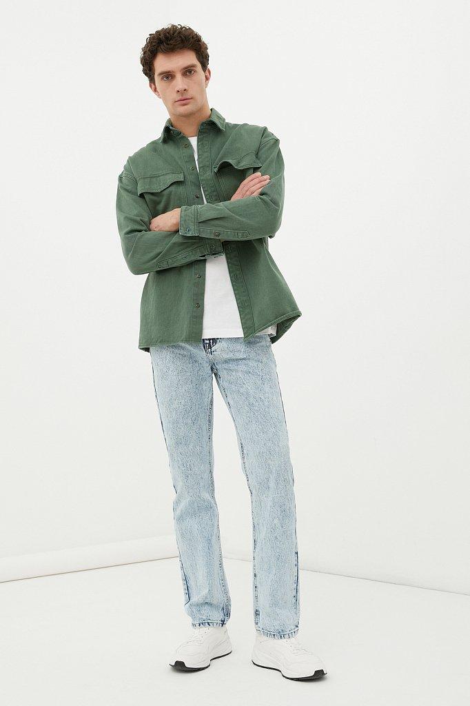 Классические прямые мужские джинсы straight fit, Модель FAB25009, Фото №1