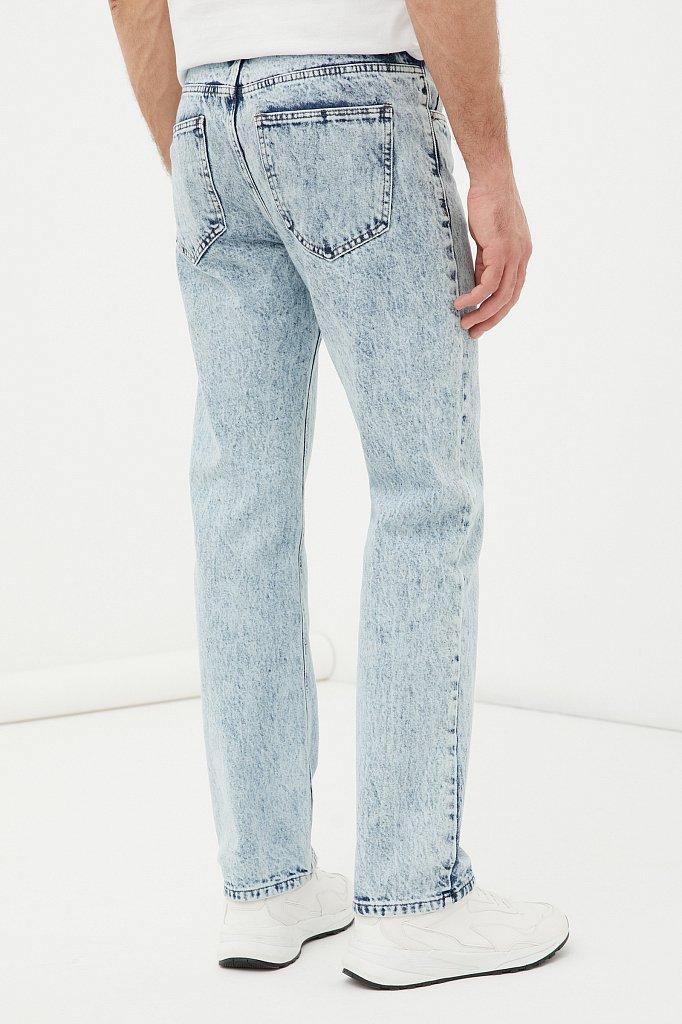 Классические прямые мужские джинсы straight fit, Модель FAB25009, Фото №4