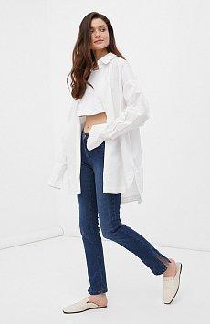 Женские  джинсы straight fit с разрезами по бокам FAB15005
