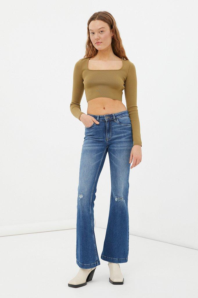 Джинсы женские bootcut fit, Модель FAB15004, Фото №1