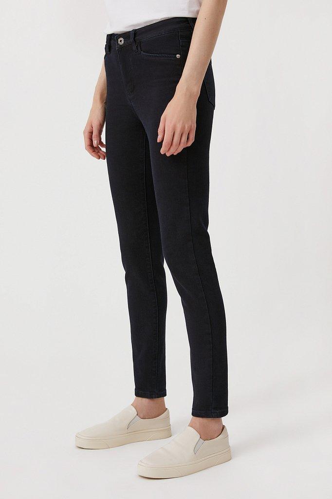Женские слегка зауженные джинсы slim fit, Модель FAB15022, Фото №3
