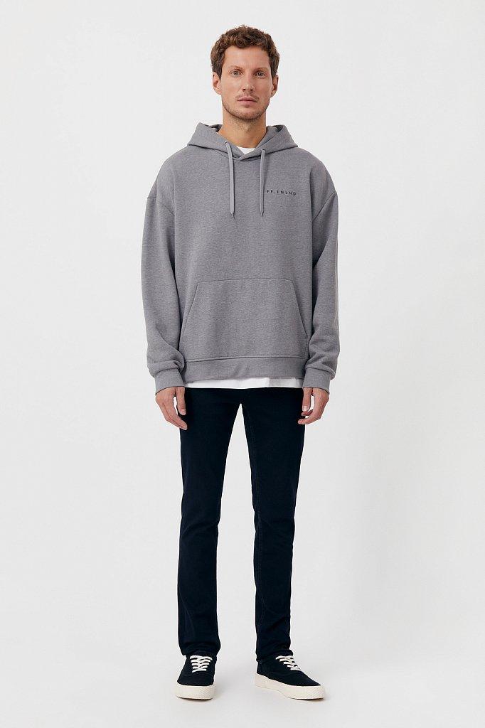 Слегка зауженные мужские джинсы slim fit, Модель FAB25014, Фото №1