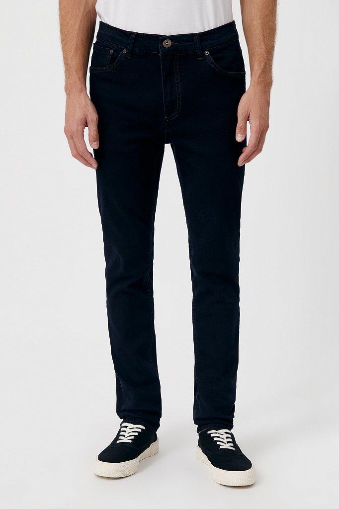 Слегка зауженные мужские джинсы slim fit, Модель FAB25014, Фото №2