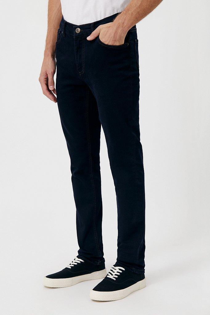 Слегка зауженные мужские джинсы slim fit, Модель FAB25014, Фото №3