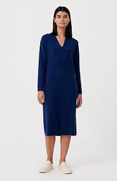 Женское трикотажное платье прямого кроя с шерстью FAB11190