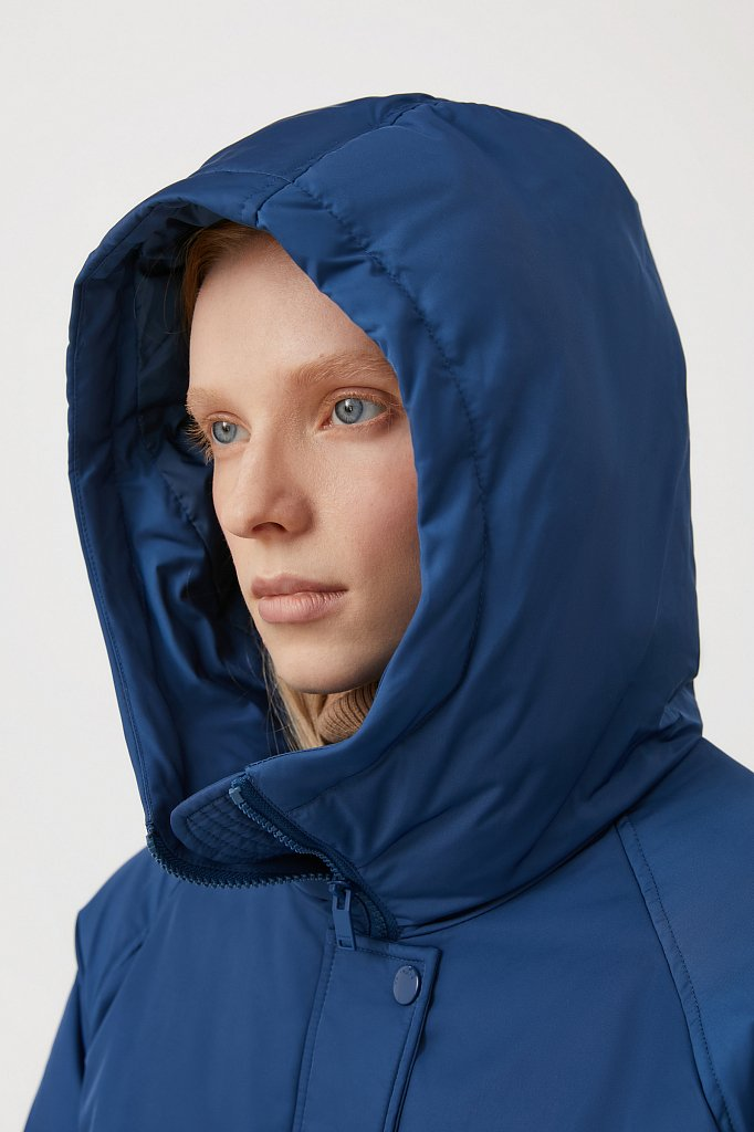Пуховик женский свободного кроя, Модель FAB110104, Фото №8