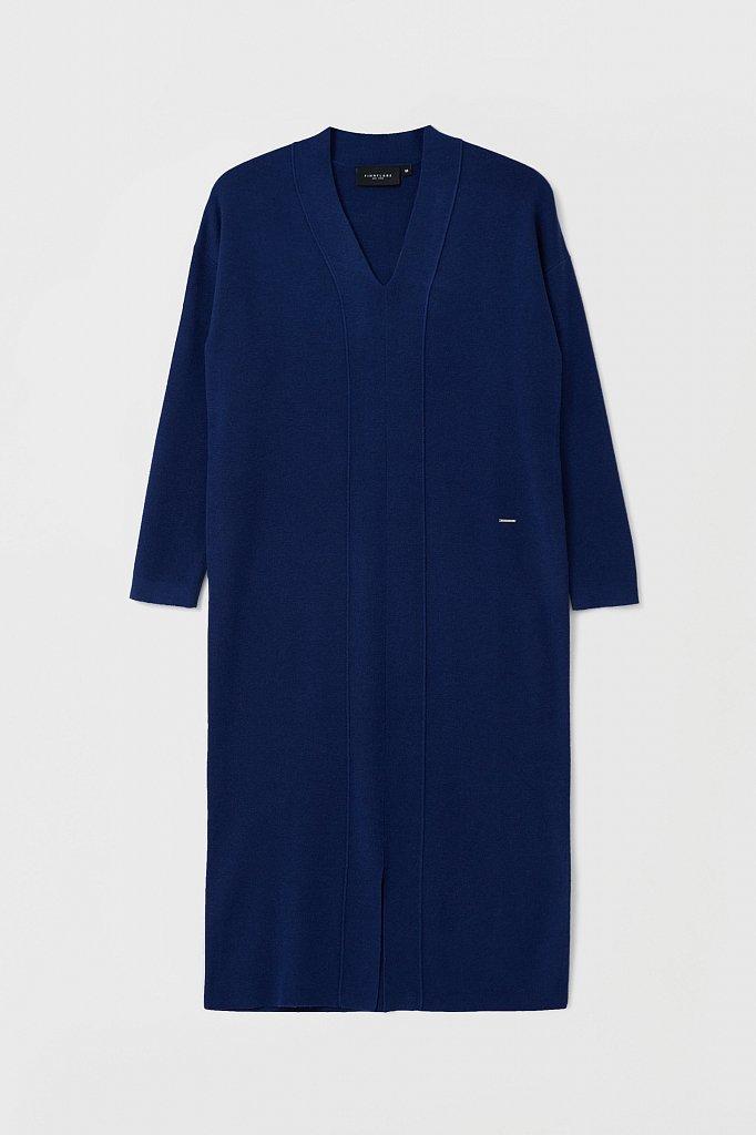 Женское трикотажное платье прямого кроя с шерстью, Модель FAB11190, Фото №7
