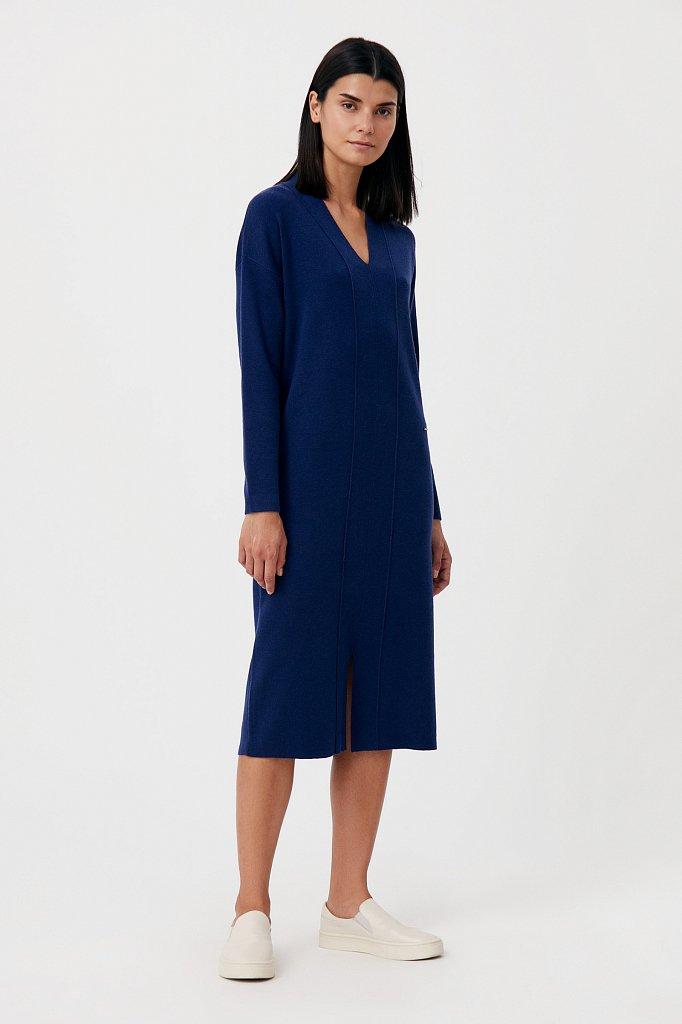 Женское трикотажное платье прямого кроя с шерстью, Модель FAB11190, Фото №2