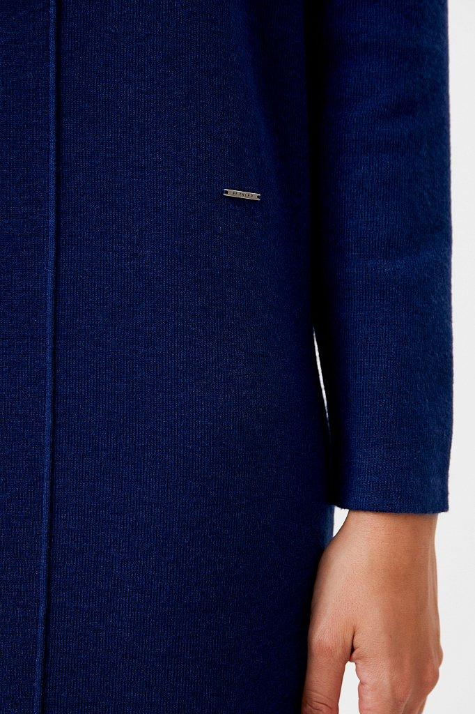 Женское трикотажное платье прямого кроя с шерстью, Модель FAB11190, Фото №5
