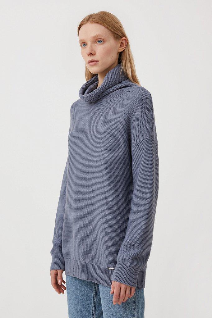 Женский свитер оверсайз прямого силуэта, Модель FAB111105, Фото №3
