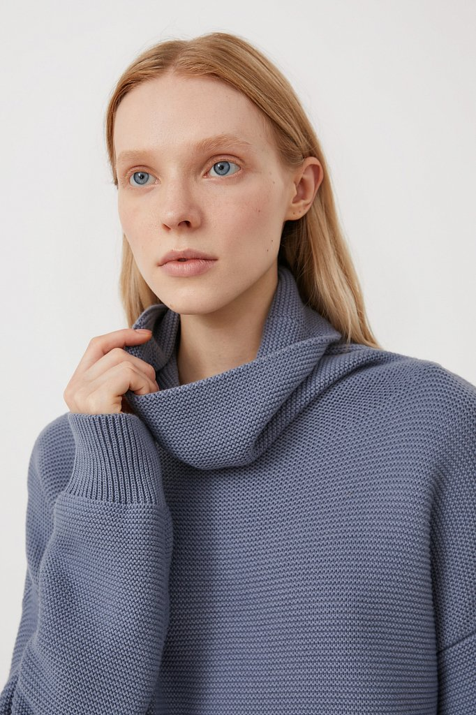 Женский свитер оверсайз прямого силуэта, Модель FAB111105, Фото №6