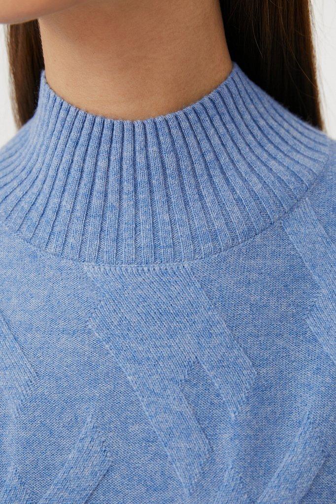 Женский джемпер прямого кроя из шерсти и кашемира, Модель FAB11165, Фото №5