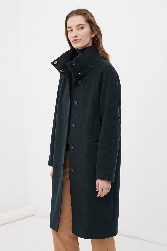 Драповое женское пальто, Модель FAB110209, Фото №3