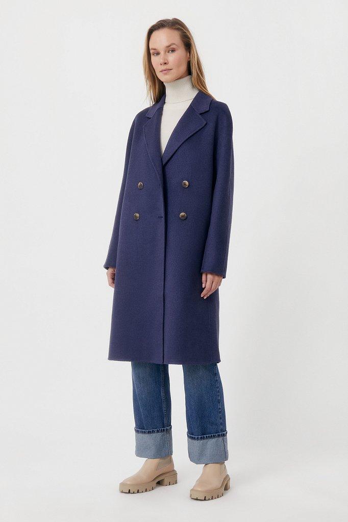 Драповое женское пальто свободного кроя, Модель FAB110211, Фото №1