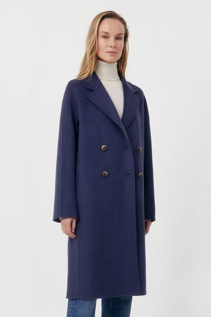 Драповое женское пальто свободного кроя, Модель FAB110211, Фото №3