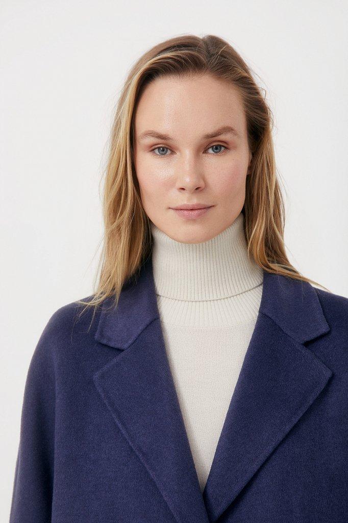 Драповое женское пальто свободного кроя, Модель FAB110211, Фото №6