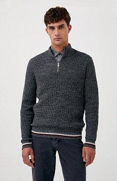 Трикотажный мужской свитер прямого силуэта FAB21124