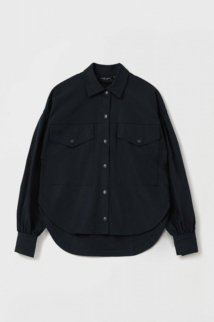 Женская рубашка c объемными рукавами и карманами, Модель FAB11009, Фото №7