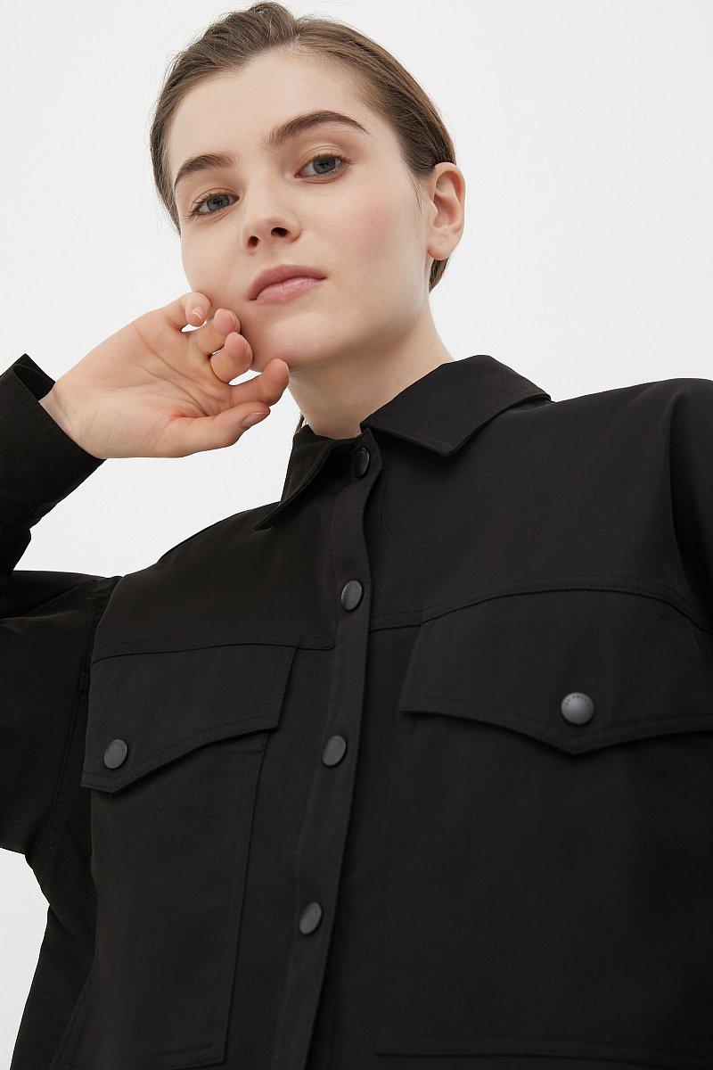 Женская рубашка c объемными рукавами и карманами, Модель FAB11009, Фото №5