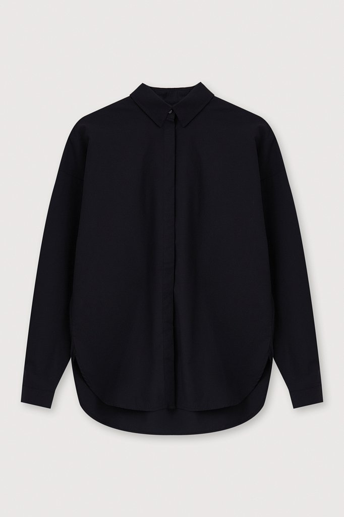 Классическая женская рубашка оверсайз из хлопка, Модель FAB110112, Фото №7