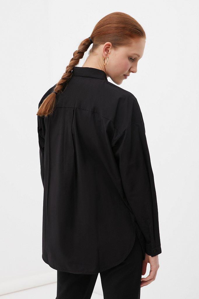 Классическая женская рубашка оверсайз из хлопка, Модель FAB110112, Фото №4