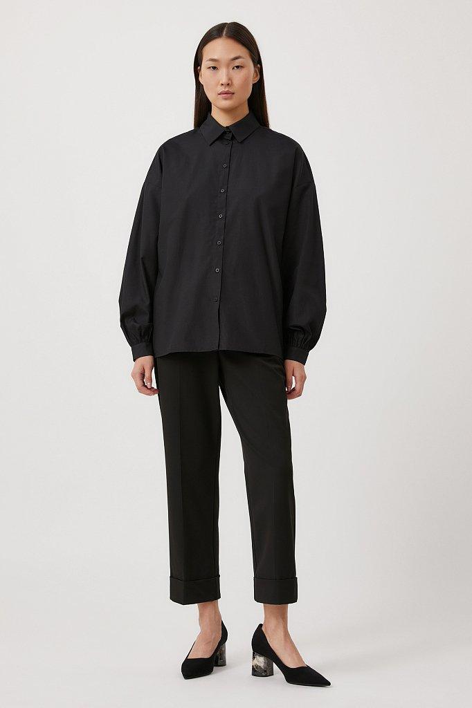 Женская рубашка оверсайз с объемными рукавами, Модель FAB110114, Фото №2