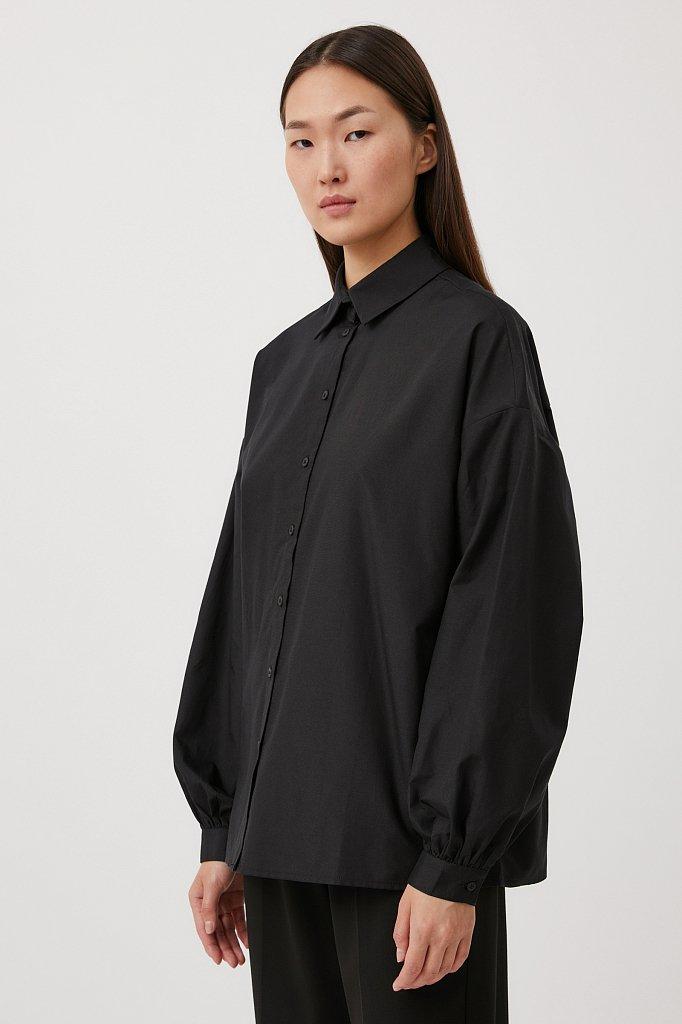 Женская рубашка оверсайз с объемными рукавами, Модель FAB110114, Фото №3