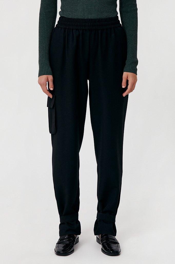Женские брюки спортивного фасона c патами, Модель FAB110128, Фото №2