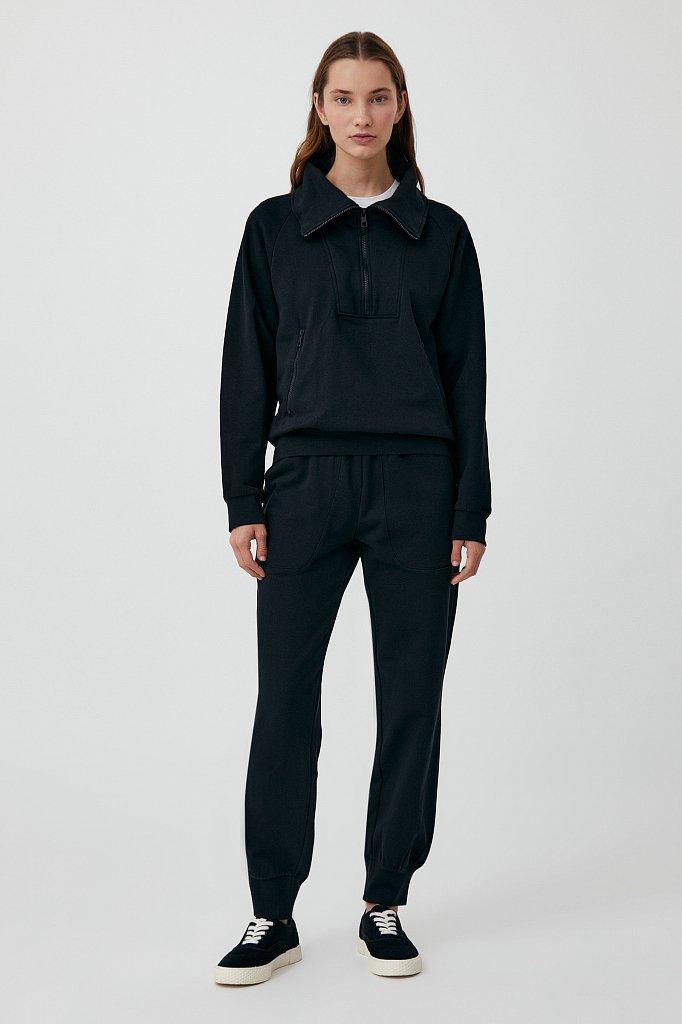 Толстовка женская на молнии с карманами, Модель FAB110176, Фото №2