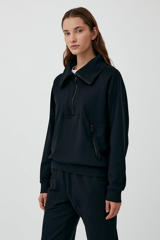 Толстовка женская на молнии с карманами, Модель FAB110176, Фото №3