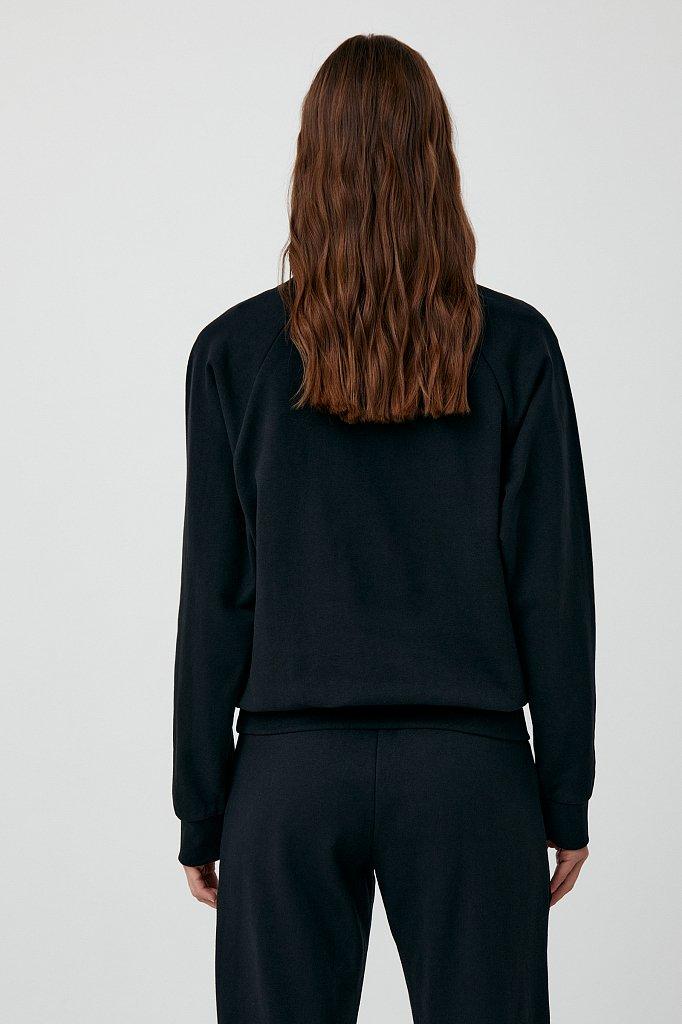 Толстовка женская на молнии с карманами, Модель FAB110176, Фото №4