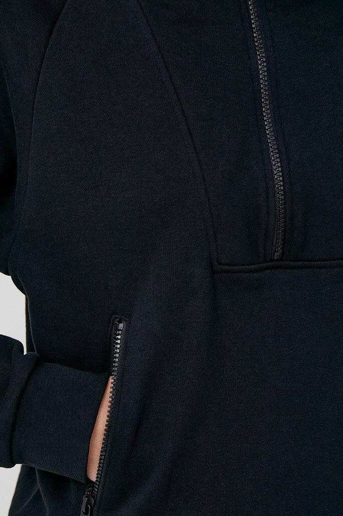 Толстовка женская на молнии с карманами, Модель FAB110176, Фото №6