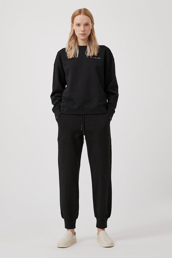 Женские брюки на резинке с манжетами по низу, Модель FAB110178, Фото №1