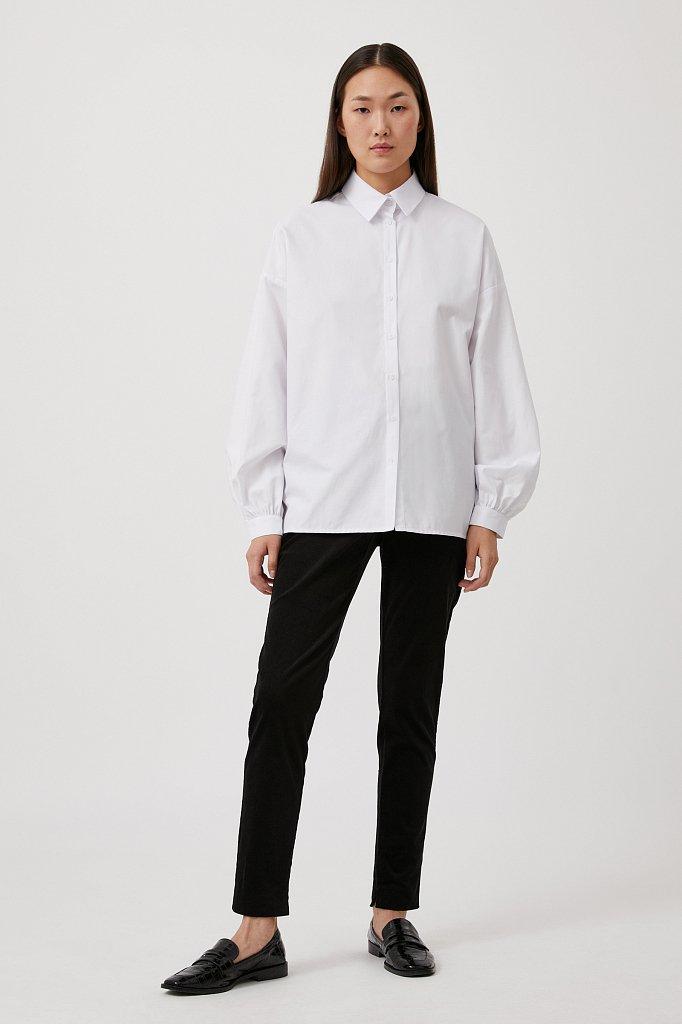 Вельветовые зауженные женские брюки, Модель FAB110184, Фото №1