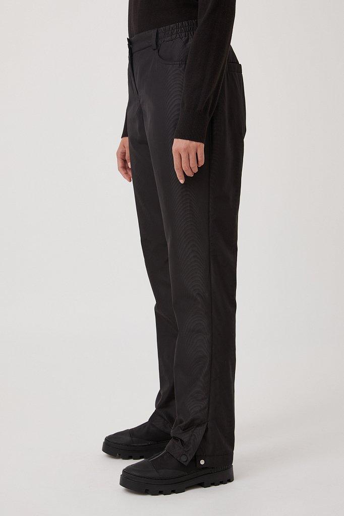 Брюки женские с утеплителем с резинкой на поясе, Модель FAB110189, Фото №3