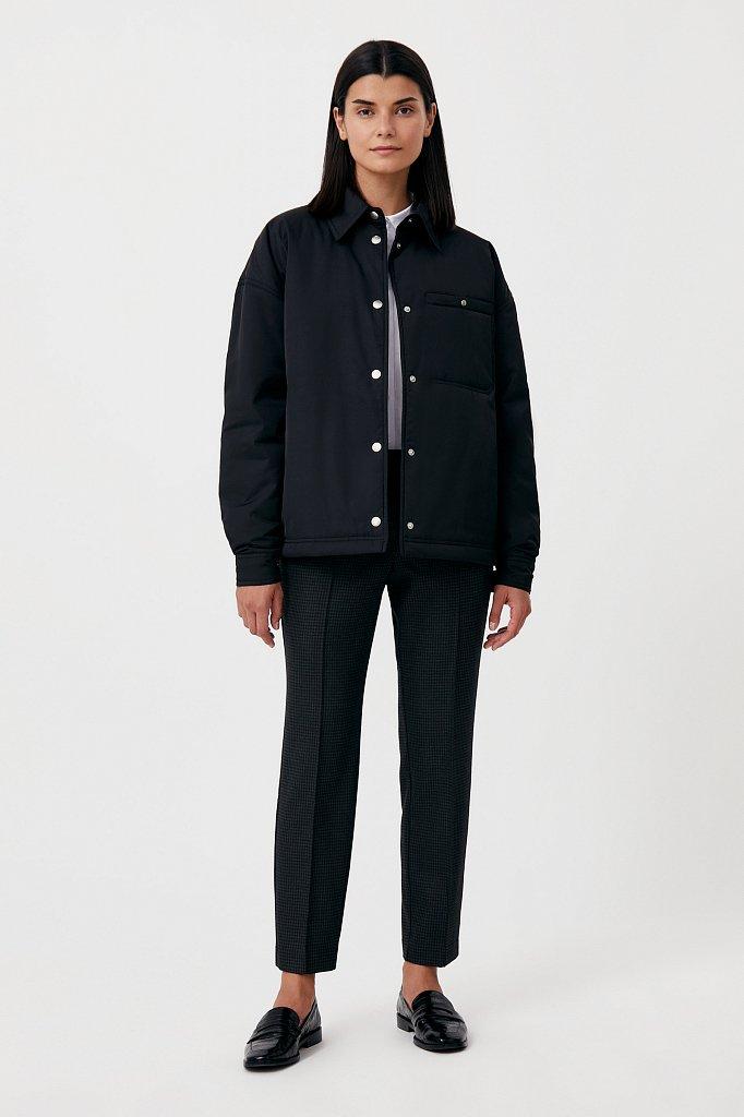 Утепленная женская куртка свободного кроя, Модель FAB110194, Фото №2