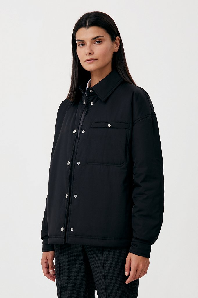 Утепленная женская куртка свободного кроя, Модель FAB110194, Фото №3