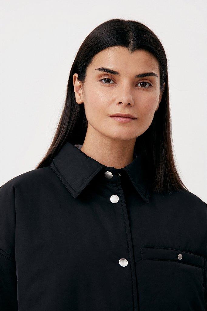 Утепленная женская куртка свободного кроя, Модель FAB110194, Фото №6