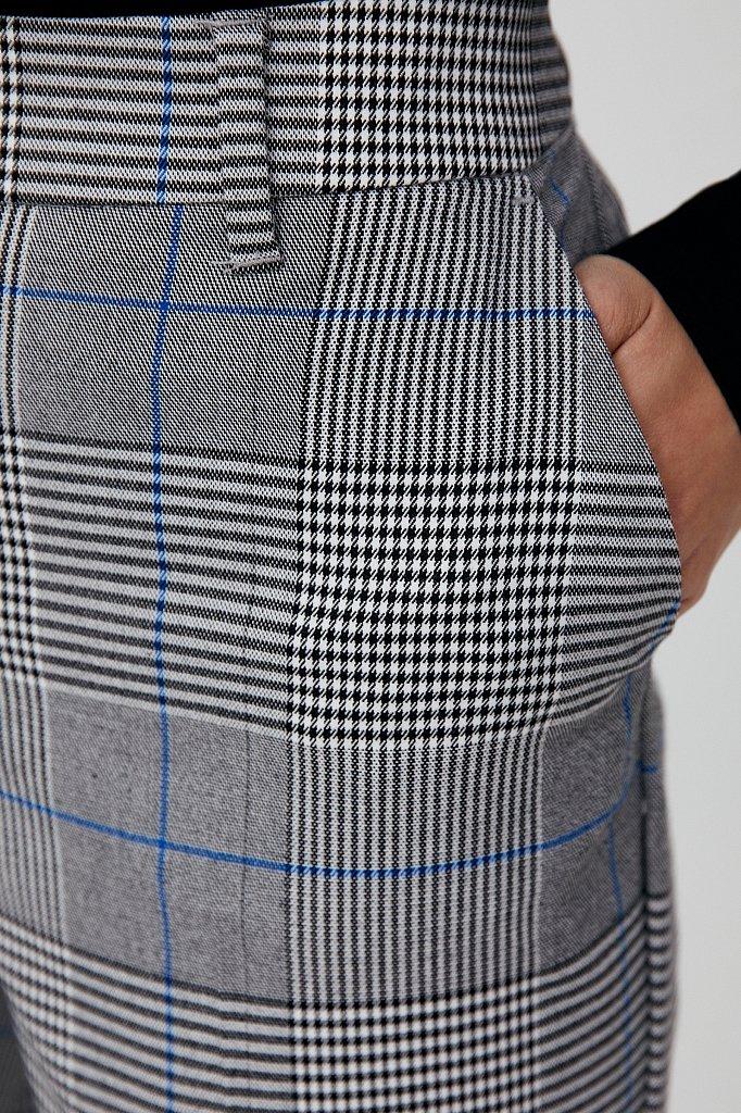Классические женские брюки в клетку со стрелками, Модель FAB110202, Фото №5