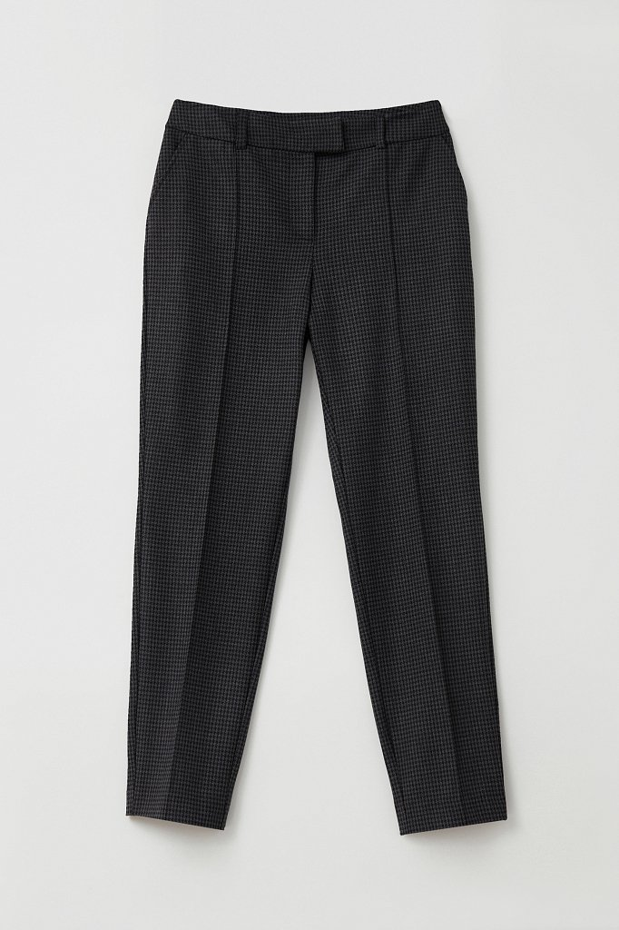Женские брюки на средней посадке с мелким принтом, Модель FAB11020, Фото №6